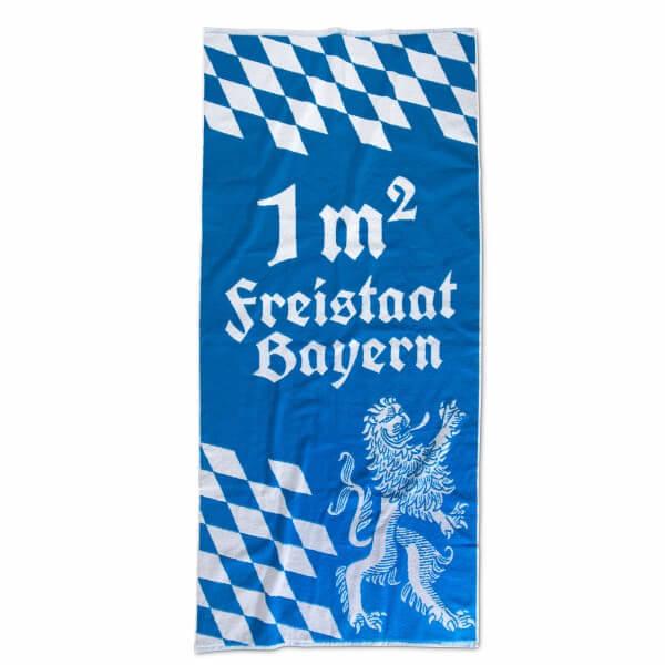 Badetuch '1 qm Freistaat Bayern'