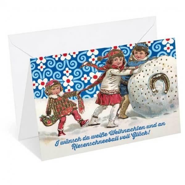"""Weihnachtskarte """"Riesenschneeball"""""""