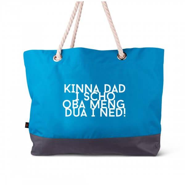 "Strandtasche ""Kinna dad i scho"""