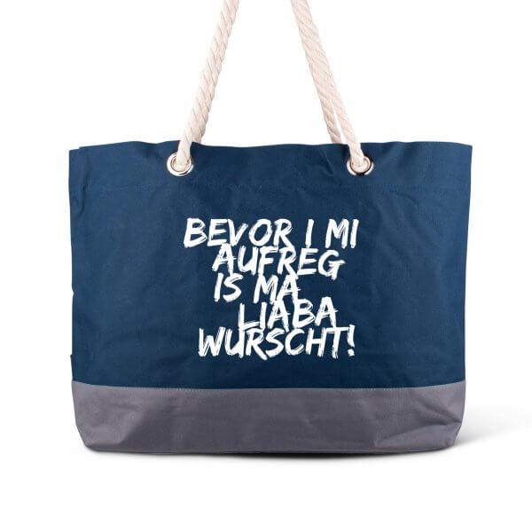 """Strandtasche """"Bevor i mi aufreg ..."""""""