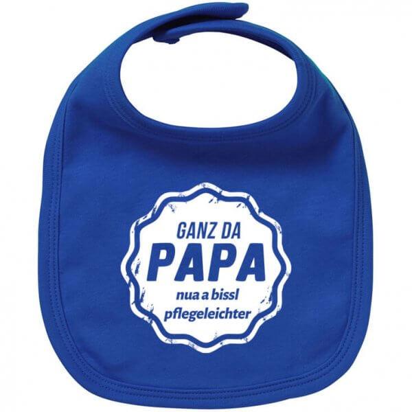 "Babylätzchen ""Ganz da Papa"""