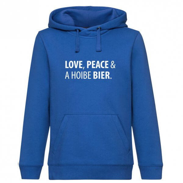 """Hoodie """"Love, Peace & A Hoibe Bier"""""""