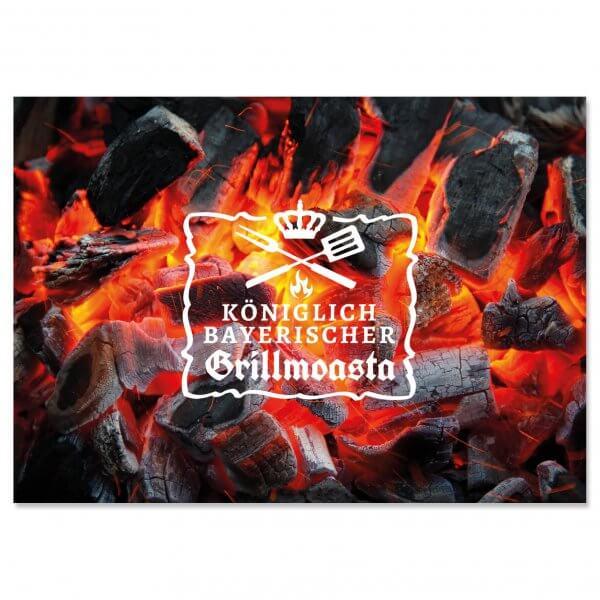 """Postkarte """"Königlich bayerischer Grillmoasta"""""""