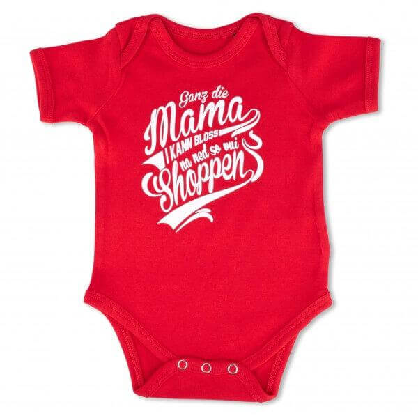 "Baby Body ""Ganz die Mama"" rot"