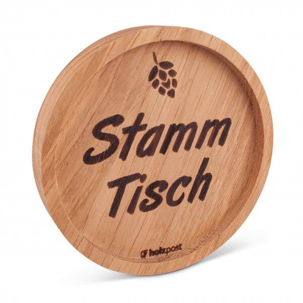 """Holz-Untersetzer """"Stammtisch"""""""