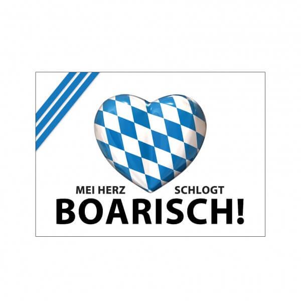 Aufkleber 'Mei Herz schlogt boarisch!'