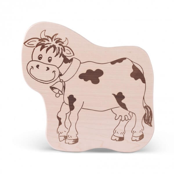 Brotzeitbrettl 'Kuh'
