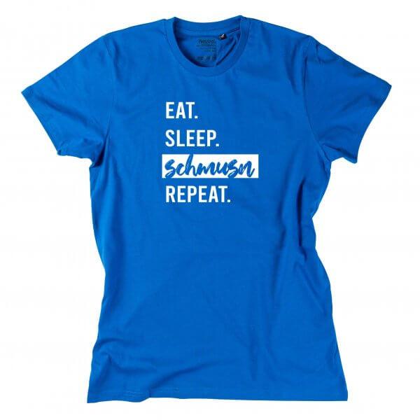 """Herren-Shirt """"Eat. Sleep. Schmusn. Repeat."""""""