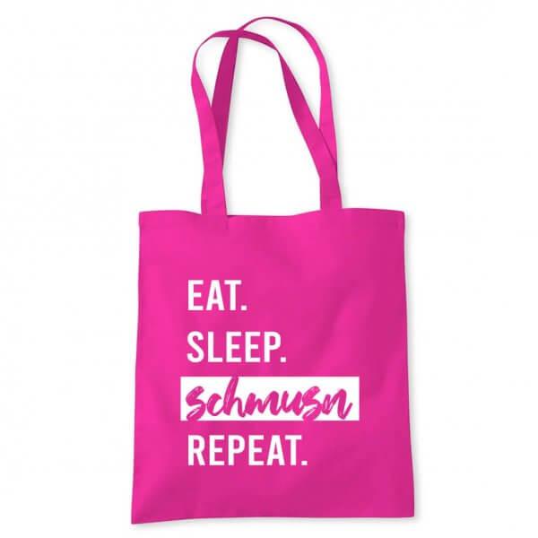 """Tasche """"Eat. Sleep. Schmusn. Repeat."""""""