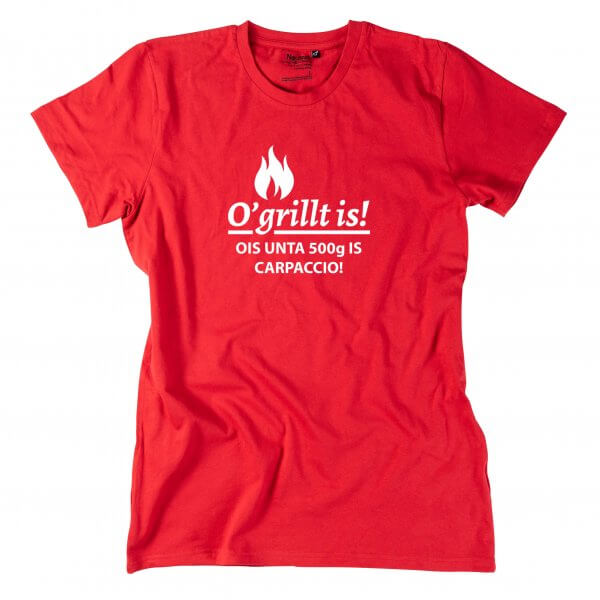 "Herren-Shirt ""O'grillt is!"""