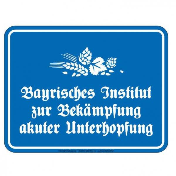 """Blechschild """"Unterhopfung"""""""