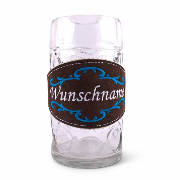 Hirschleder-Biertracht mit Wunschstick