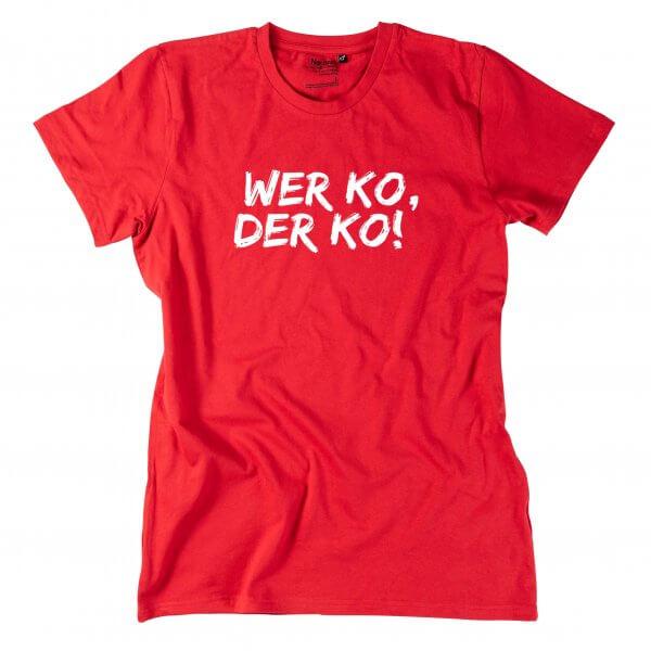 """Herren-Shirt """"Wer ko, der ko!"""""""