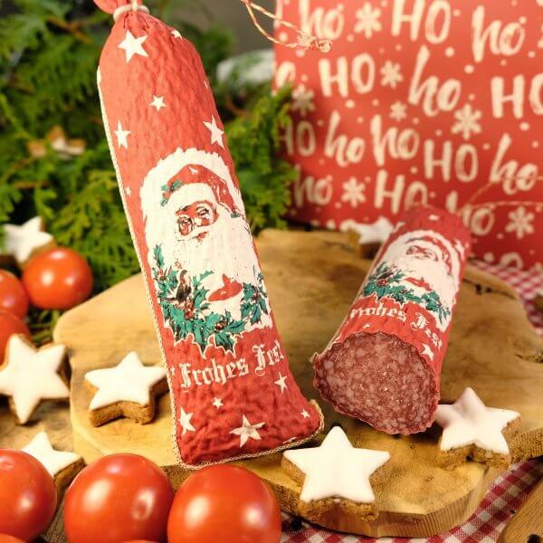 "Salami-Nikolaus ""Frohes Fest"""
