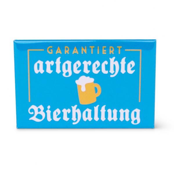 """Kühlschrankmagnet """"Artgerechte Bierhaltung"""""""