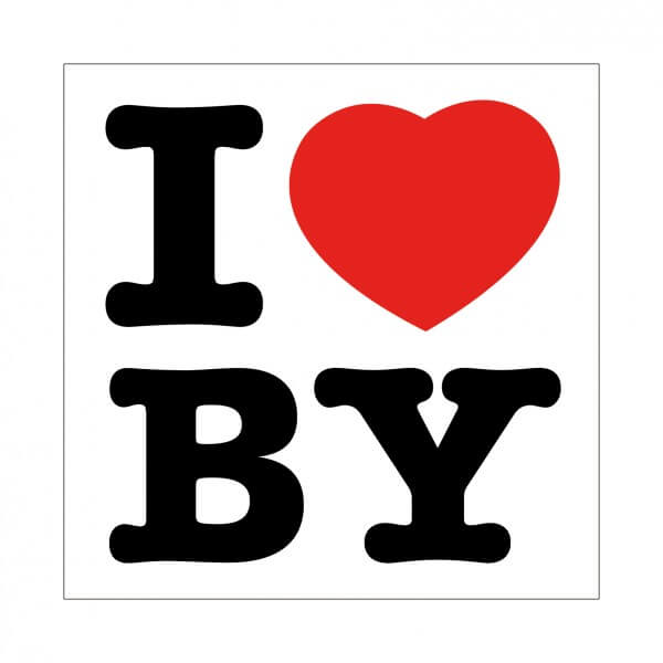 Aufkleber 'I love BY'
