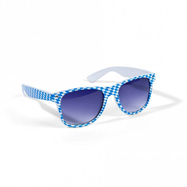 Weiß-blaue Bayern-Sonnenbrille
