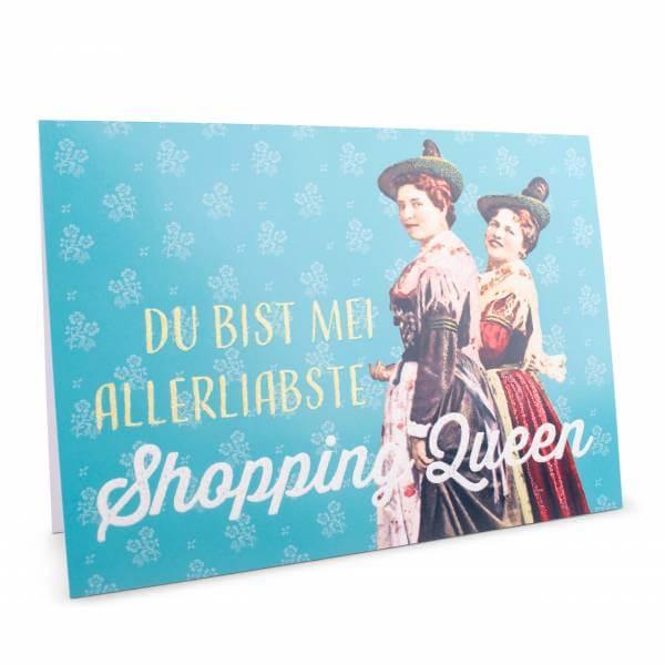 """Glückwunschkarte """"Shopping Queen"""""""
