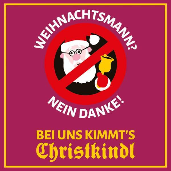 """Aufkleber """"Weihnachtsmann? Nein Danke!"""""""