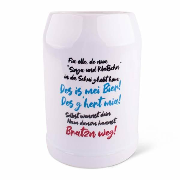 """Bierkrug """"Singa & Klatschn"""""""