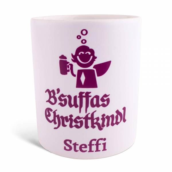 "Tasse ""B'suffas Christkindl"" mit Wunschname"