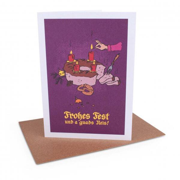 """Weihnachtskarte """"Adventskranz"""""""
