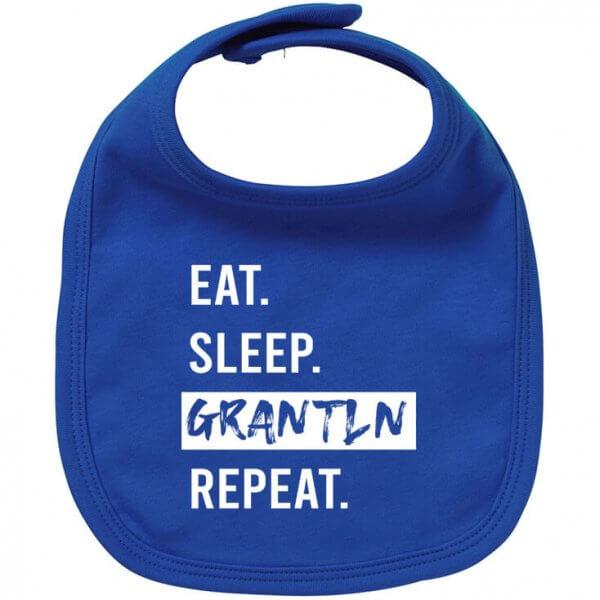 "Babylätzchen ""Eat. Sleep. Grantln. Repeat."""