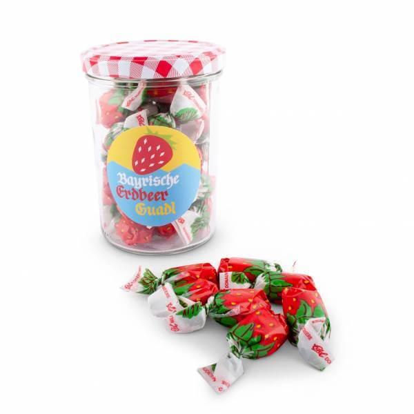 Bayrische Erdbeer Guadl im Glasl