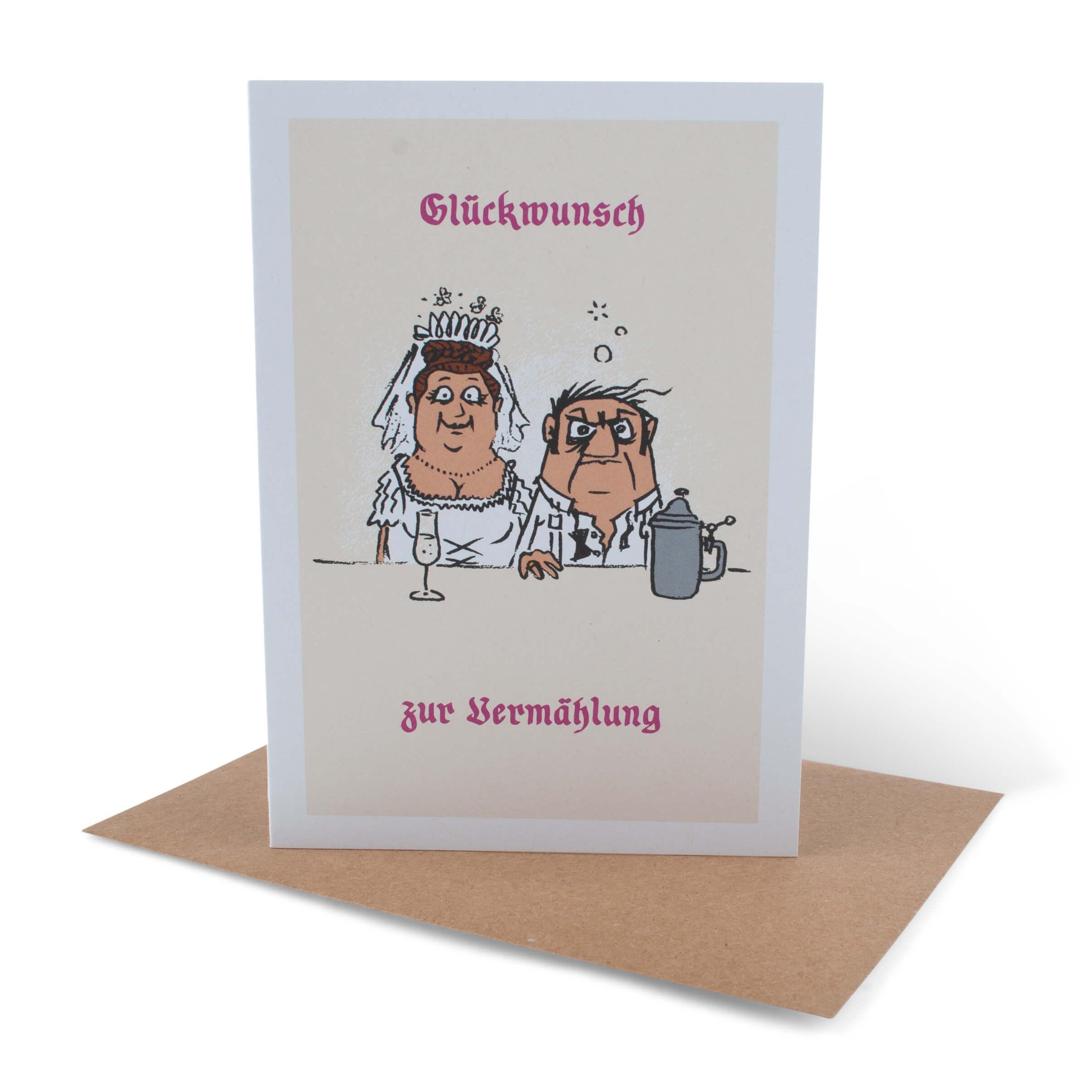 Hochzeit-Glückwunschkarte Vermählung