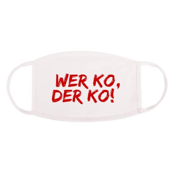 """Bayrische Mund-Nasen-Maske """"Wer ko, der ko!"""""""
