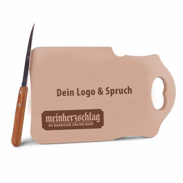 Brotzeitbrettl mit eigenem Logo