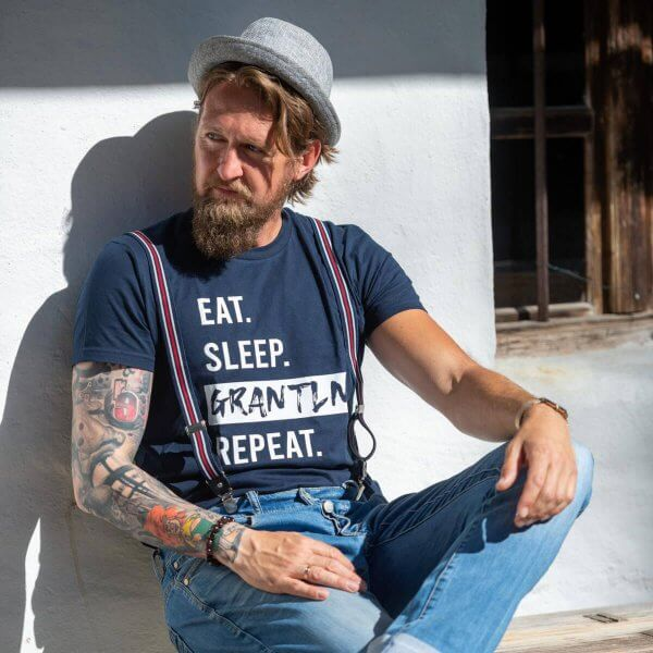"Herren-Shirt ""Eat. Sleep. Grantln. Repeat."""