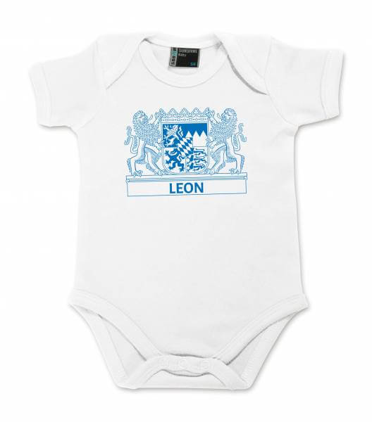 "Baby Body ""Wappen"" mit Wunschname"