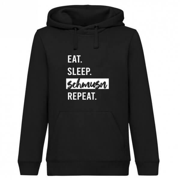 "Hoodie ""Eat. Sleep. Schmusn. Repeat."""