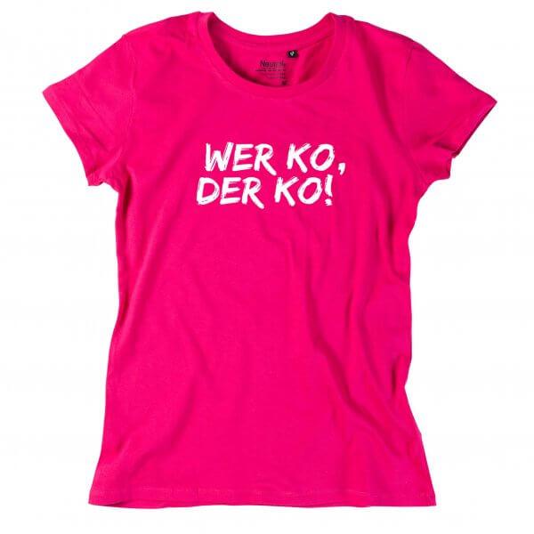 "Damen-Shirt ""Wer ko, der ko!"""