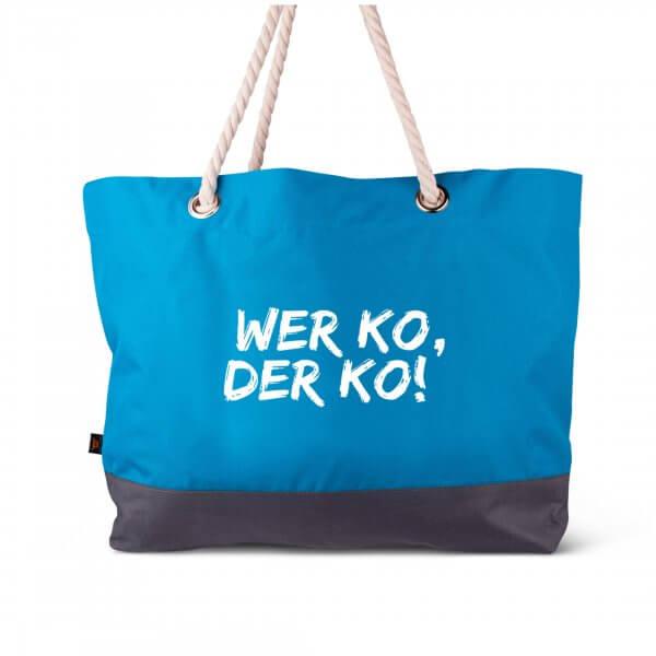 """Strandtasche """"Wer ko, der ko"""""""
