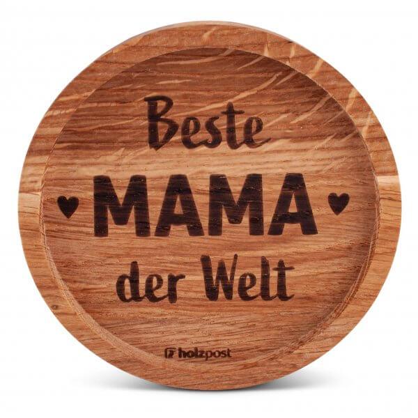 "Holz-Untersetzer ""Beste Mama"""