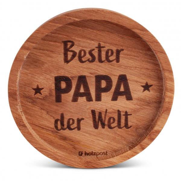 "Holz-Untersetzer ""Bester Papa"""