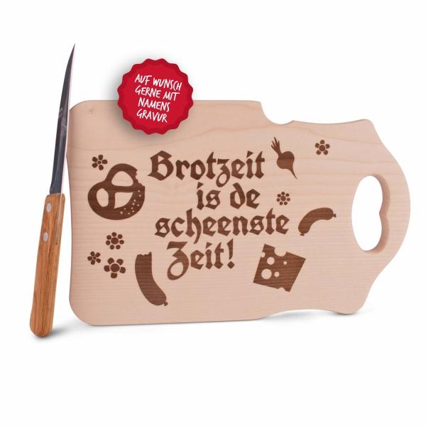 """Brotzeitbrettl """"Brotzeit is de scheenste Zeit"""""""