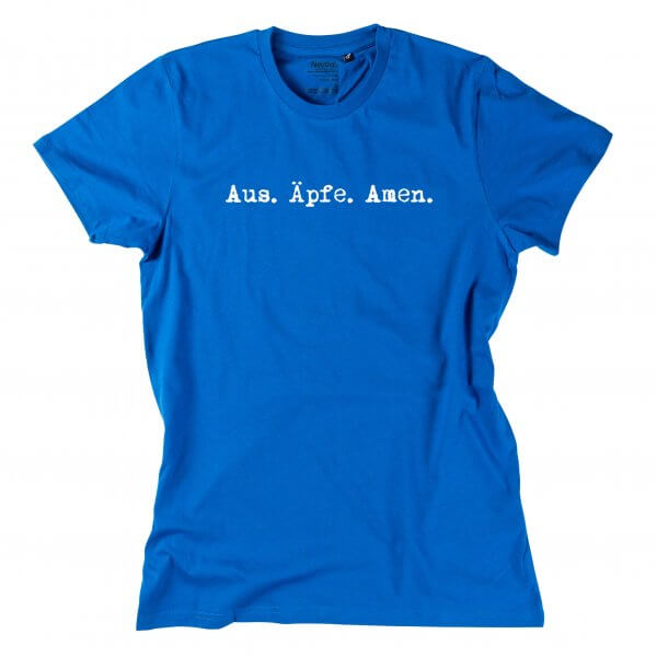 "Herren-Shirt ""Aus. Äpfe. Amen."""