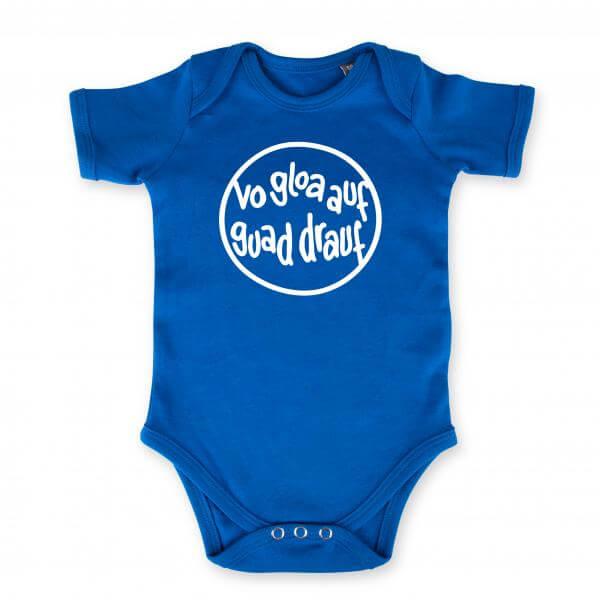 """Baby Body """"Vo gloa auf guad drauf"""" blau"""