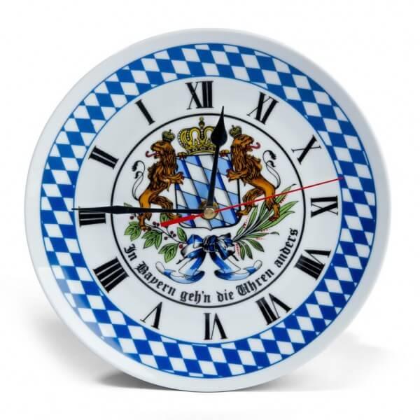 Bayerische Porzellan-Wanduhr