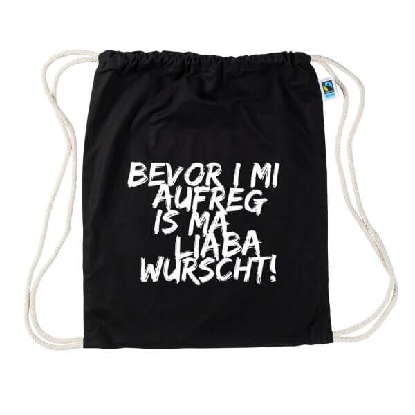 """Turnbeutel """"Bevor i mi aufreg"""""""