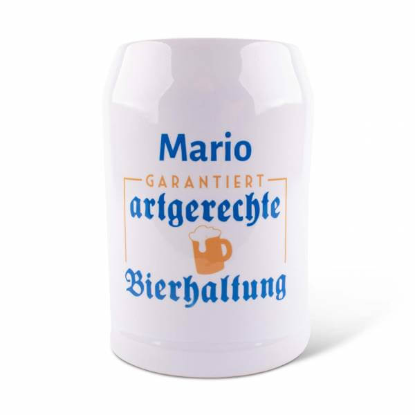"""Bierkrug """"Bierhaltung"""" mit Wunschname"""